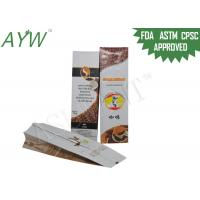 Buy cheap Valve Sealed Coffee Bags 8oz , Foil Lined Coffee Bean Packaging Bags For Australia Bun Coffee from wholesalers