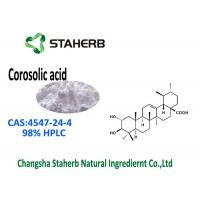 Buy cheap Triterpenoid Compound Banaba Leaf Extract CAS 4547-24-4 Corosolic Acid 98% HPLC from wholesalers