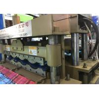 Buy cheap Thickness 0.4-0.8MM Glazed Tile Roll Forming Machine For Gear Transmission from wholesalers