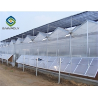 Buy cheap Hot sale polycarbonate greenhouse agriculture with irrigation&hydroponics equipment from wholesalers