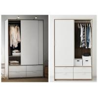 Buy cheap White Lacquer Bedroom Armoire Wardrobe Closet , European Style Wooden Wardrobe Closet from wholesalers