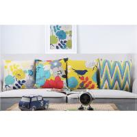 Buy cheap Full Color  Heavy Cotton Linen Home Decorative Pillows Birds And Blooms Printed from Wholesalers