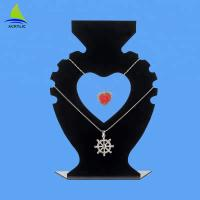Buy cheap 2018 Online Retail Heart-Shaped Acrylic Necklace Jewelry Displays from wholesalers