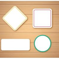 Buy cheap Self Adhesive Blank Sticker Labels , Customized Blank Mailing Address Labels from wholesalers