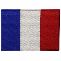Buy cheap France Embroidery Iron On Flag Patches Washable Custom Cloth Patches from wholesalers