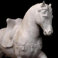 Buy cheap Animal Garden Ornament Sculpture Life Size Marble Stone Horse Statue For Sale from wholesalers