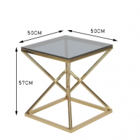 Buy cheap 50x50cm Modern 0.47cbm Stainless Steel And Glass Coffee Table from wholesalers
