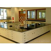 Buy cheap Floor Mounted Dental Laboratory Bench Epoxy Resin Coating Cabinet With Gas Fitting from wholesalers