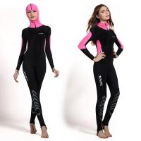Buy cheap Fashion design women Ultrathin wetsuits diving suit swimming wear pink color from wholesalers