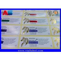 Buy cheap Print Custom 10ml Vial Labels , Gold Foil Laboratory Labels Stickers  With Strong Adhesive Stickness from wholesalers