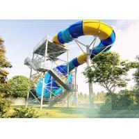 Durable Tornado Water Slide Stainless Steel Fastener 14.3m Platform Height
