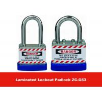 Buy cheap 50mm Lock Body Width Blue Hardered Steel Laminated Safety Lockout Padlocks from wholesalers