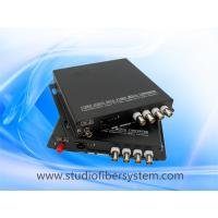 Buy cheap 4CH AHD media fiber converter for coaxial and ip camera hybrid application from wholesalers