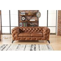 Buy cheap Light Luxury Europe Leather Chesterfield Sofa / Two Seater Leather Couch from wholesalers