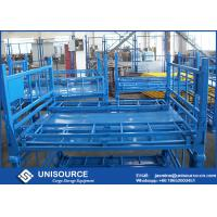 Buy cheap Size Customized Foldable Metal Box Heavy Duty Metal Pallet Cage For Warehouse Storage from wholesalers