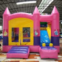 Buy cheap Outdoor Kids Game Princess Inflatable Bouncy Castle With Slide In Pink Colour from wholesalers