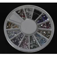 Buy cheap Parrallellogram-Colors Nail Art Rhinestones Glitters Gems Nail Art Decoration Wheel from wholesalers