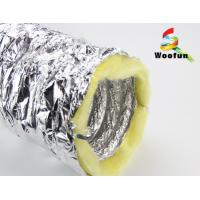Buy cheap Silver Aluminium HVAC Duct Insulation Wrap , Fire Retardant Insulated Exhaust Duct from wholesalers