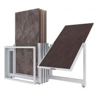 Buy cheap Rotating Metal Store Display Stand Ceramic Tile Display Racks Easy To Move from wholesalers