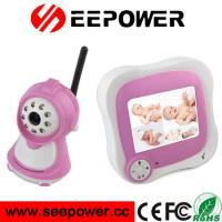 Buy cheap 2.4GHz Pink Wireless Two Way Speaking Night Vision Digital RF Baby Monitor from wholesalers