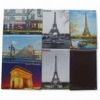 Buy cheap Die-cut PVC Fridge Magnets, Made of Crystal Glass and Paper, Non-toxic, Eco-friendly product