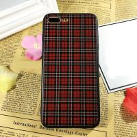 Buy cheap PC+TPU Silk Grain Classical Cloth Grid Cell Phone Case Cover For iPhone 7 6s Plus from wholesalers