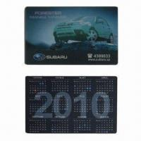 Buy cheap 3D Lenticular Calendar Card with 3D or 2D Graphic Effect, OEM Services are Provided product