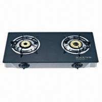 Buy cheap Black Glass Gas Cooktop with 2 Burners  from wholesalers