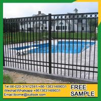 Buy cheap Ludington black aluminum fence ornamental picket fencing from wholesalers