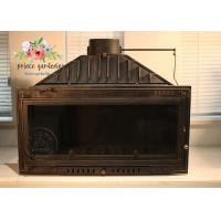 Buy cheap Indoor Freestanding Cast Iron Fireplace Hand Carved And Polished from wholesalers