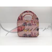 Pink Color Kids Neoprene Lunch Bags , Lightweight Cooler Bag For Children