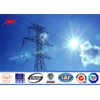 Buy cheap 3mm Angle Iron Octagonal Steel Electrical Transmission Tower Approved BV from wholesalers