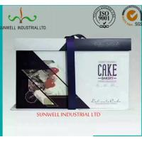 China Professional OEM/ODM Custom Design With Ribbon Closure Decorate Food Packaging Box For Cake on sale