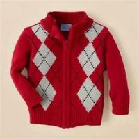 Buy cheap 2 - 8 Year Long Sleeve hand knitted baby clothes Zipper Sweaters, Children Boys Cardigans from wholesalers