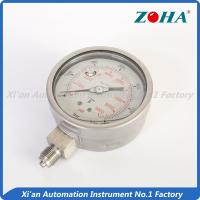 Buy cheap Stainless Glycerin Filled Pressure Gauge / 316 Differential Pressure Gauge from wholesalers