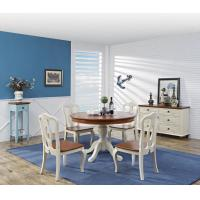 Buy cheap Mediterranean Style Dining room Furniture by wood table and chairs with Buffet Cabinet in white/blue painting product