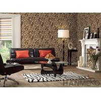 Buy cheap Home Office Decoration Wallcovering 3D Stone Textured PVC 1.06M Korea Design Wallpaper from wholesalers