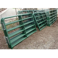 Buy cheap Oval Tube 40mm*80mm & 30mm*60mm Galvanized sheep panels animal fence sheep farm gate fence hot sale Farm gate fence from wholesalers