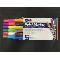 Buy cheap 18 Colors Paint Marker Pen Set Fine Paint Oil Based Art Pen New With Paper Box from wholesalers