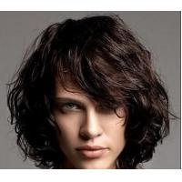 Buy cheap Soft Deep wave Lace Front Human Hair Wigs , 100% Virgin Unprocessed Half Lace Wig from wholesalers