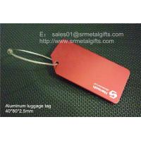 Buy cheap Customized imprinted Aluminium luggage tag with wire rope cable loop, from wholesalers