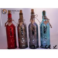 Buy cheap Electroplate Finish Wine Bottle Led Lights With Paint Color / Words product