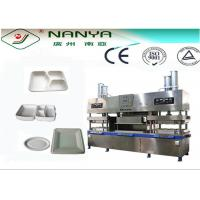 Buy cheap Bamboo Pulp Semi-auto Eco-friendly Paper Plate Making Machine 7000Pcs / H from wholesalers