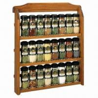 Buy cheap Spice Rack, Made of Wood Material, Eco-friendly, Available in Various Sizes from wholesalers