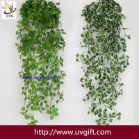 Buy cheap UVG 90cm long artificial grape vines fake ivy with plastic leaf garland for garden ornament BHP01 from wholesalers