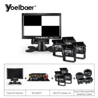 Buy cheap 4 Channel Mobile DVR System Vehicle Security System MDVR Kit 7 LCD Monitor from wholesalers