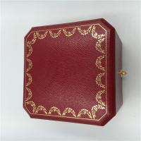 Buy cheap Cartier Earrings Velvet Luxury Jewelry Box Red / Black With Cartier Certificate from wholesalers