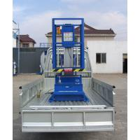 Buy cheap 6M Platform Height 130KG Loading Capacity Aluminum Aerial Work Platform with Triple Mast from wholesalers