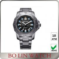 Buy cheap Fashion Army Style Stainless Steel Military Watches For Men Sapphire Glass from wholesalers