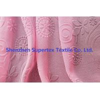 Buy cheap 75D Polyester Pearl GGT Pink Chiffon Fabric With Embossed Flowers from wholesalers